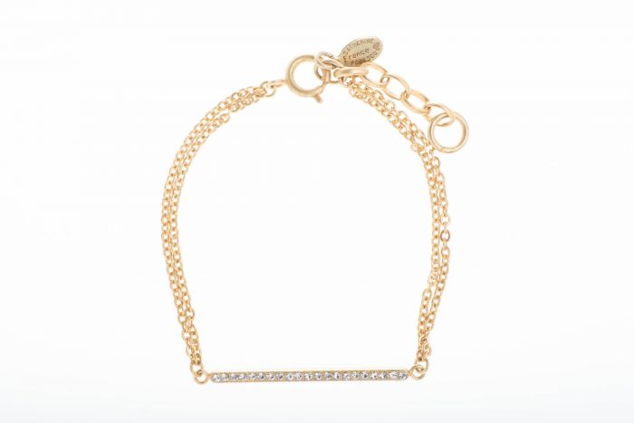 Catherine Popesco Gold Crystal Bar Bracelet - Assorted Colors