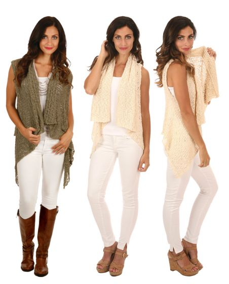 Lost River Popcorn Knit Reversible Vest - Moss or Black - Free Shipping