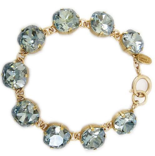 Catherine Popesco Large Stone Crystal Bracelet - Stormy and Gold