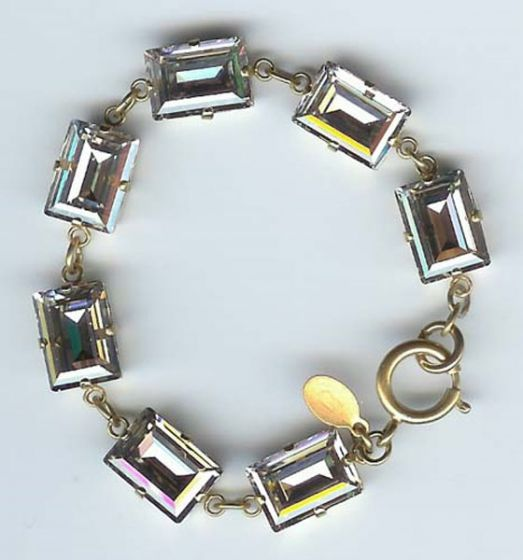 Catherine Popesco Shade and Gold Rectangle Crystal Bracelet