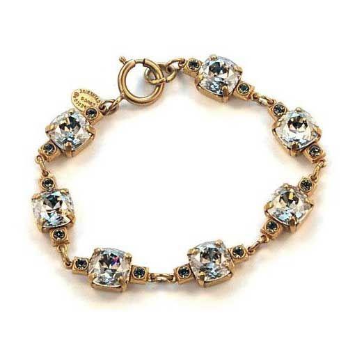 Catherine Popesco 10mm Medium Stone Crystal Bracelet - Shade and Gold