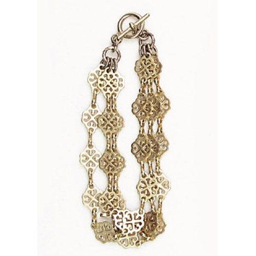 Catherine Popesco Gold Triple Chain Bracelet