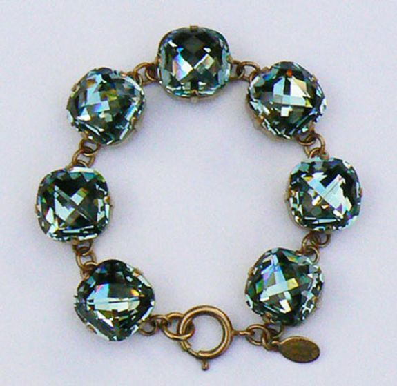 Catherine Popesco Ex-Large Stone Crystal Bracelet - Indian Sapphire and Gold