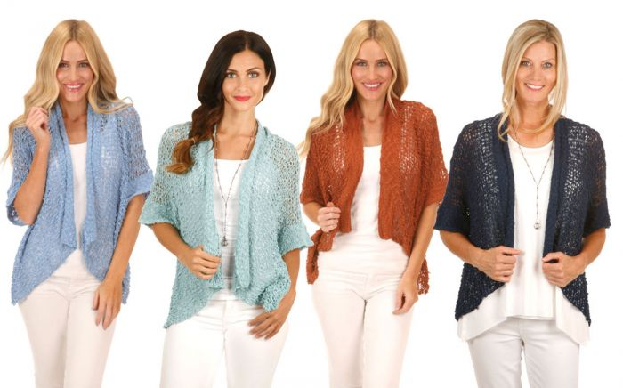 Lost River Popcorn Knit Open Jackets - Assorted Colors - Free Shipping