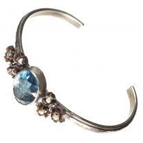 c1a8e3bac36 Wish List Compare. Barbosa Bracelet St Benito Cross Blue Glass with Mini  Pearl Roses Skinny Cuff