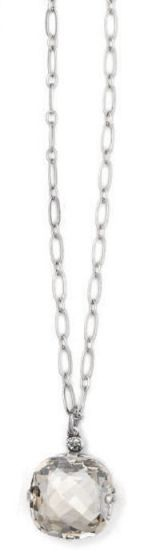 Catherine Popesco Ex-Large Stone Crystal Necklace - Shade and Silver