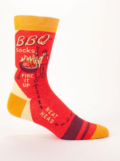 Blue Q Men's BBQ Socks - Fire it Up Meat Head - Free Shipping!