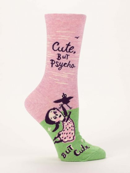 Blue Q Women's Cute. But Psycho, but Cute Socks  - Free Shipping!