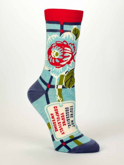 Blue Q Women's You're Not Obsessive,You're Compulsively Awesome Socks  - Free Shipping!