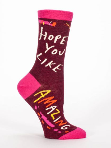 Blue Q Women's Hope You Like Amazing Socks  - Free Shipping!