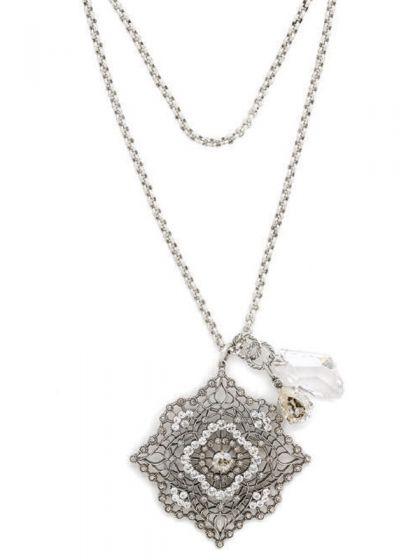 Catherine Popesco Silver Square Necklace