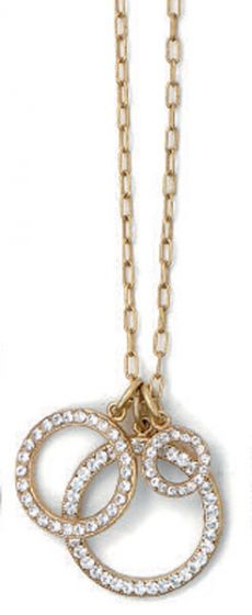 La Vie Parisienne Three Circle Crystal Necklace