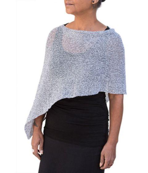 Van Klee Sparkle! Metallic Tissue Knit Ponchos - Assorted Colors
