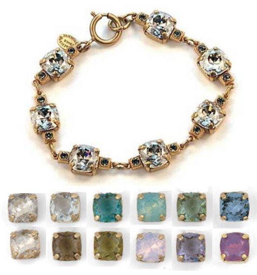 Medium Stone Crystal Bracelet - White Alabaster and Gold