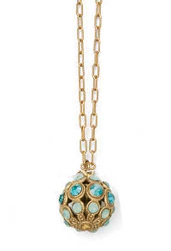 Catherine Popesco Orb Necklace - Gold - Pacific Opal and Teal