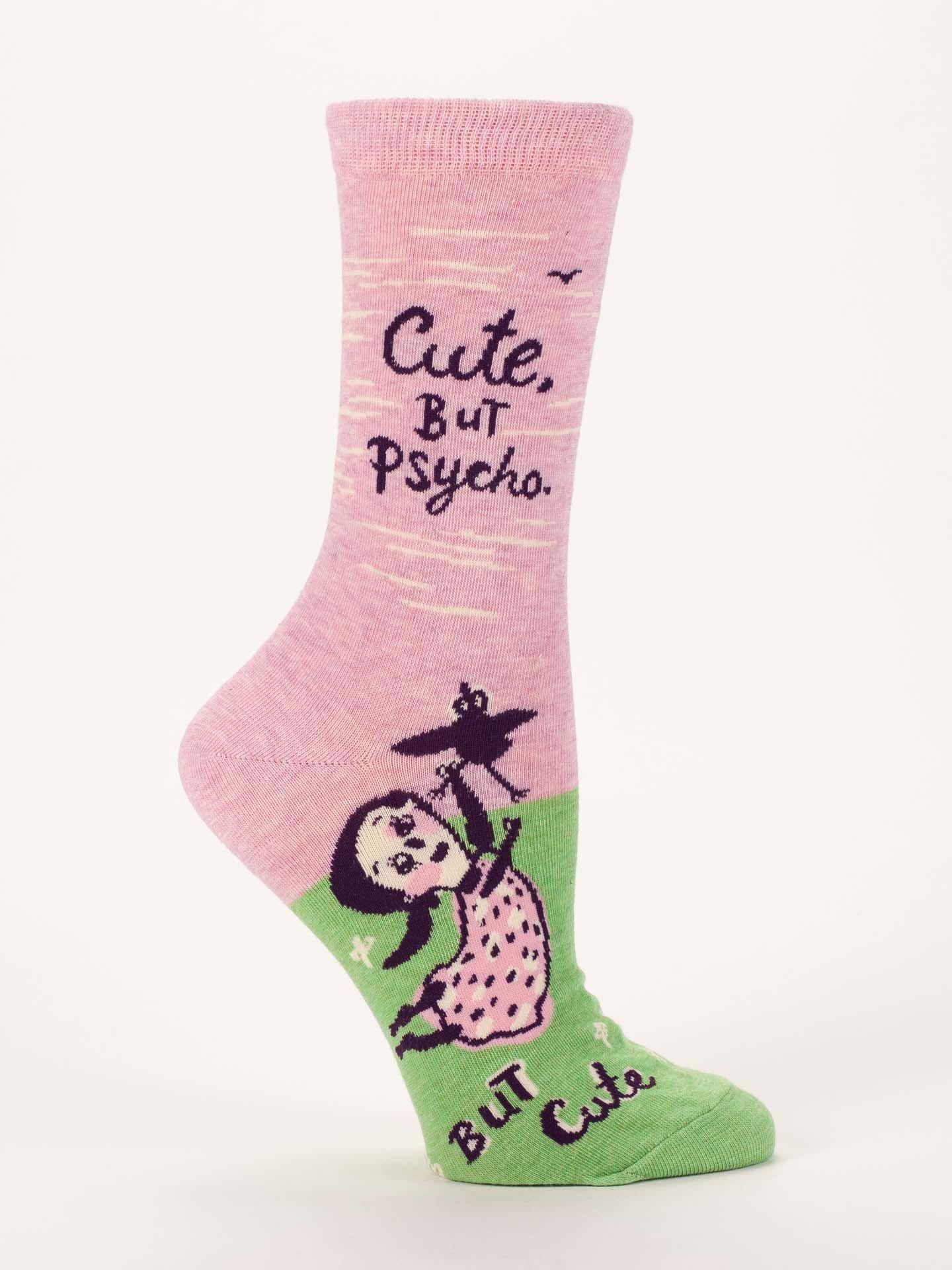e6148d29faf94 Blue Q Women's Cute. But Psycho, but Cute Socks - Free Shipping!