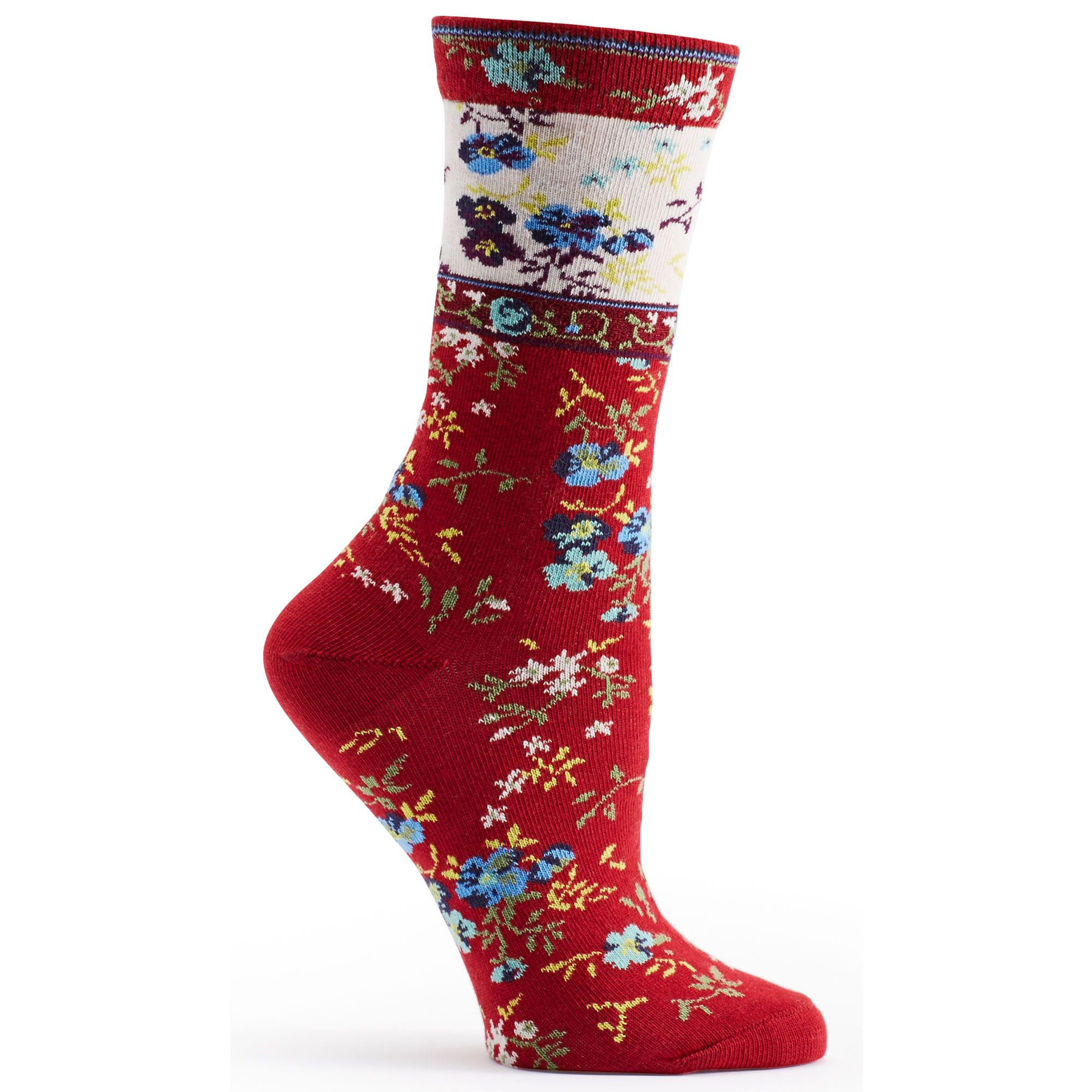 b6f3f5d7a63d2 Ozone Socks Floral Mona Linen Sock - Assorted Colors - Free Shipping!