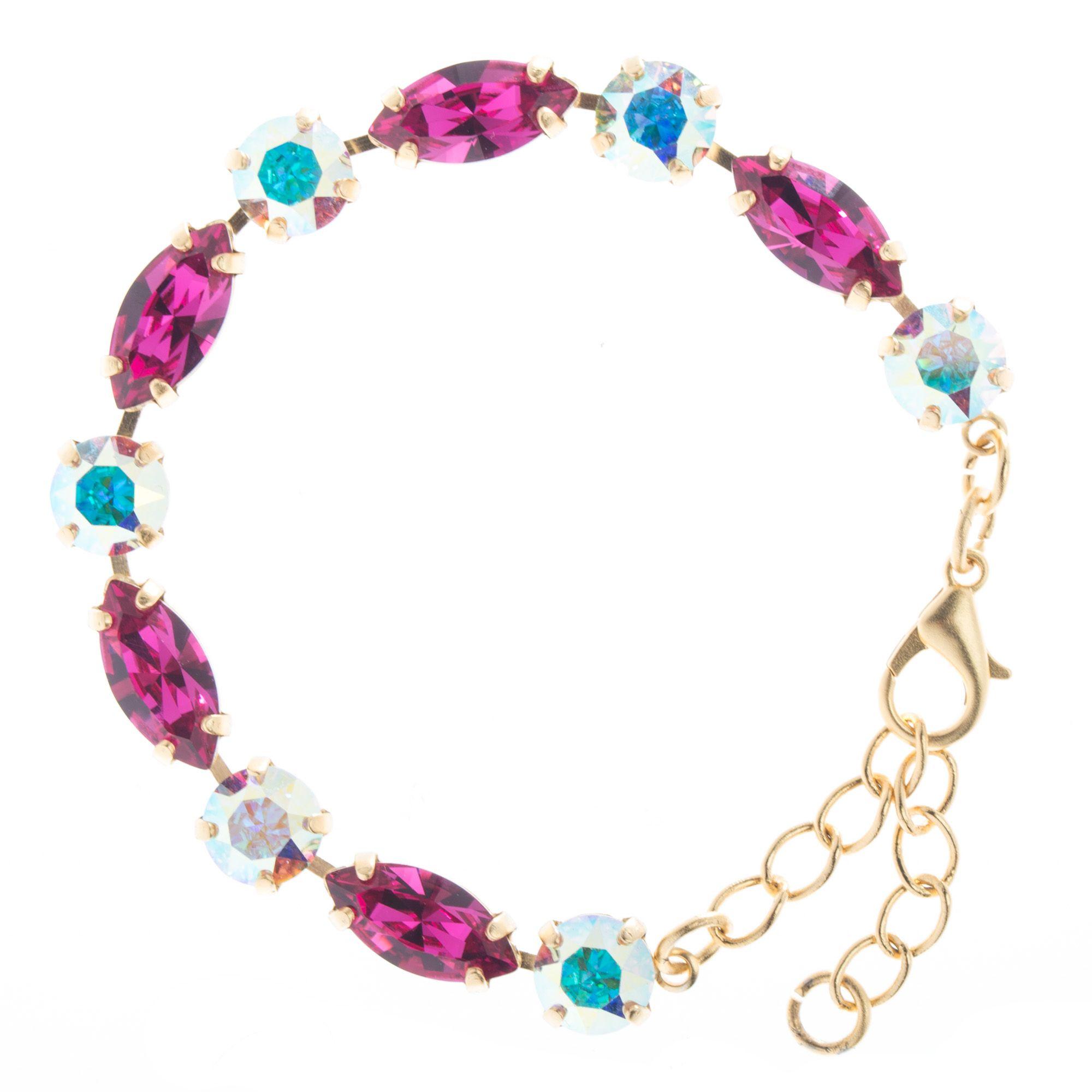 bracelet swarovski fuchsia