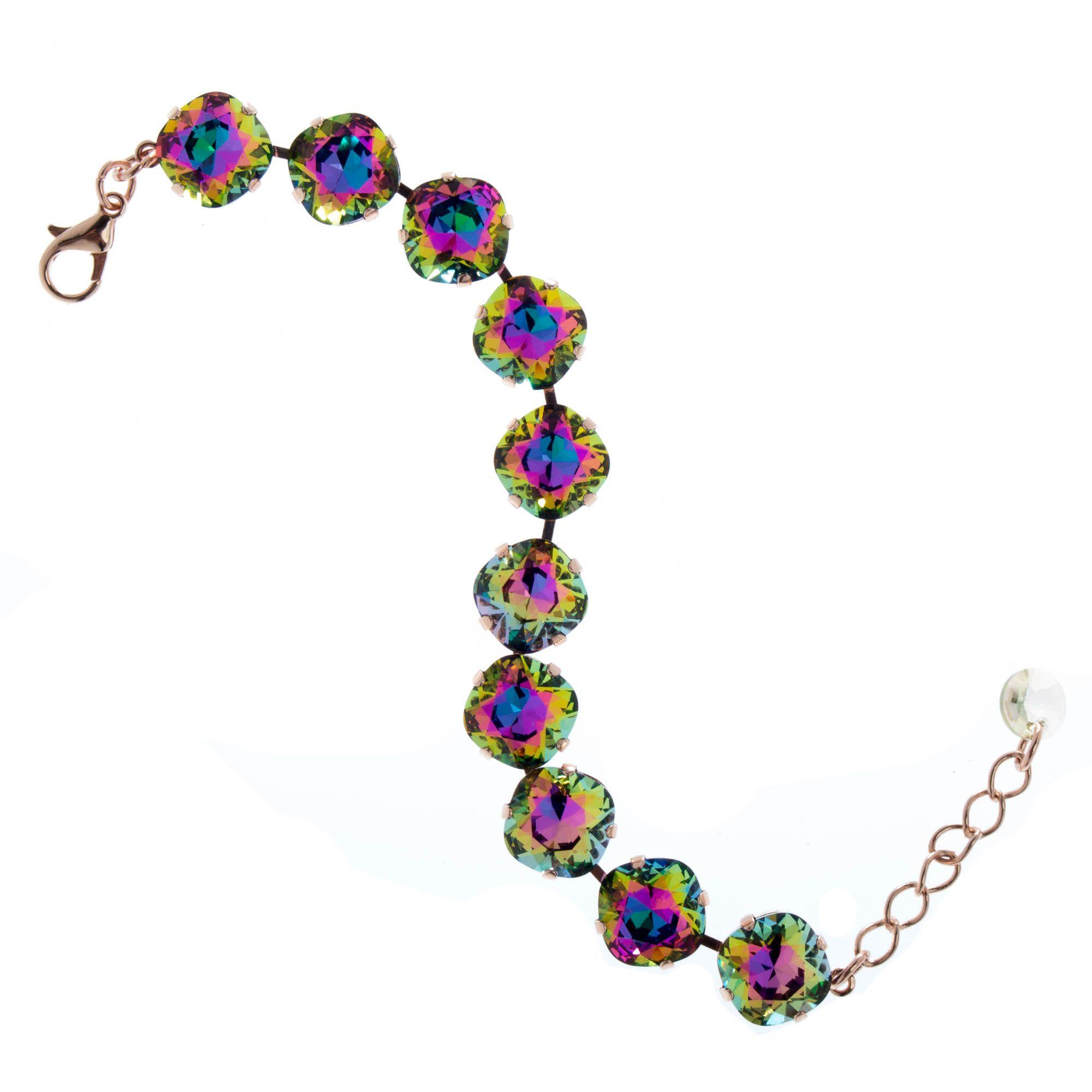 94a1c0c387f462 Lisa Marie Jewelry 12mm Square Swarovski Crystal Bracelet - Electra