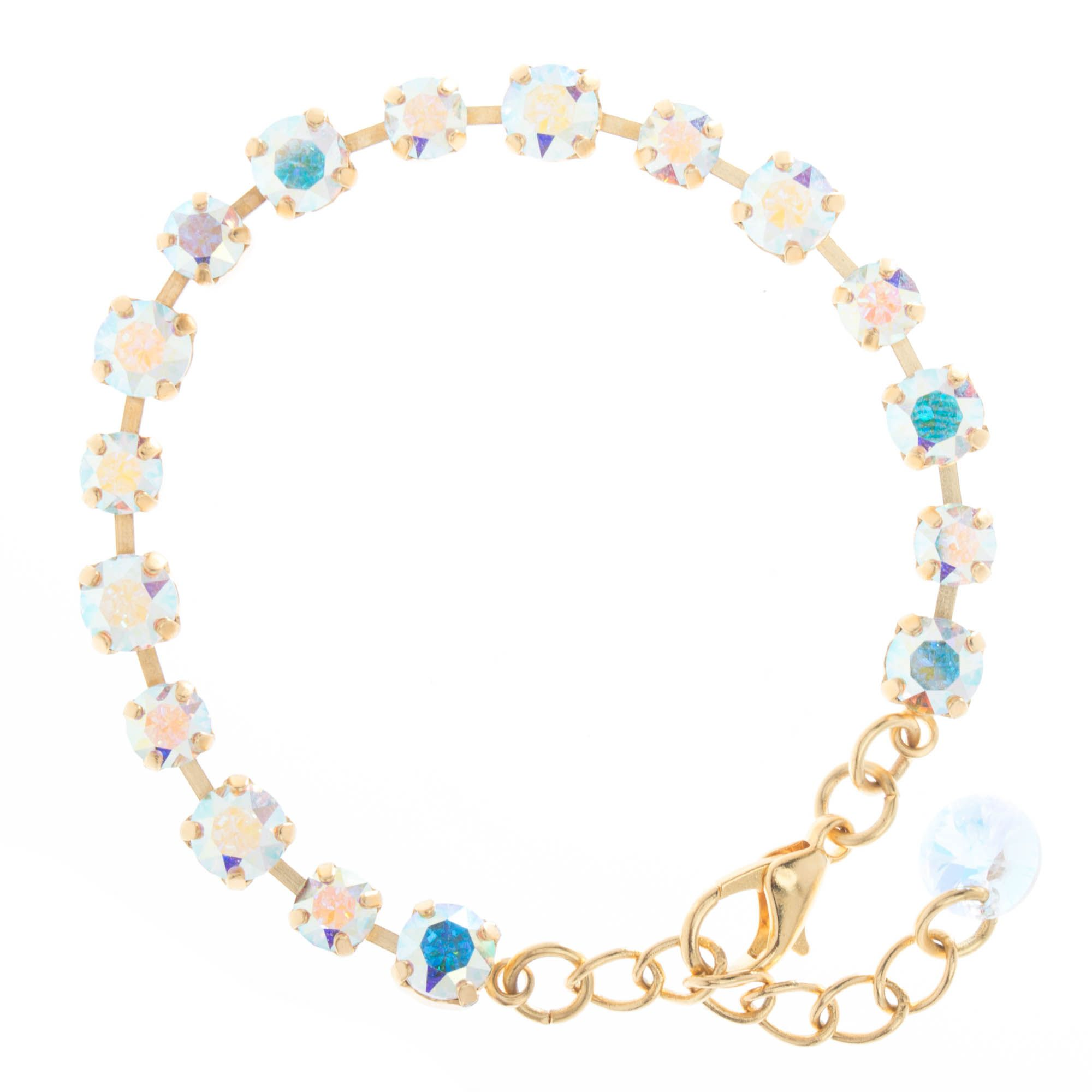 cd98674d9e2f5 Petite! YPMCO 6mm & 4mm Swarovski Crystal Bracelet - Clear or AB