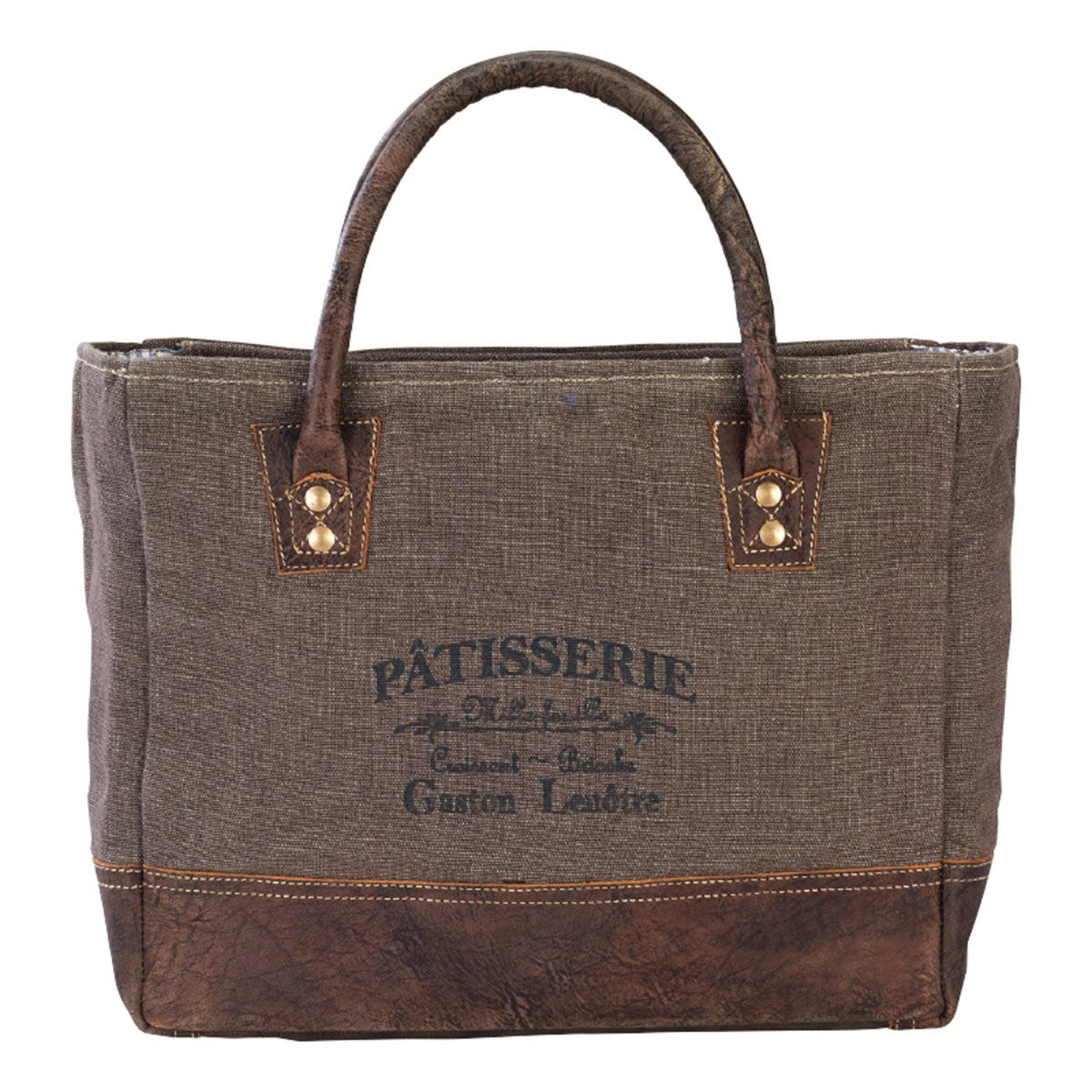 French Patisserie Re-purposed Canvas Purse/