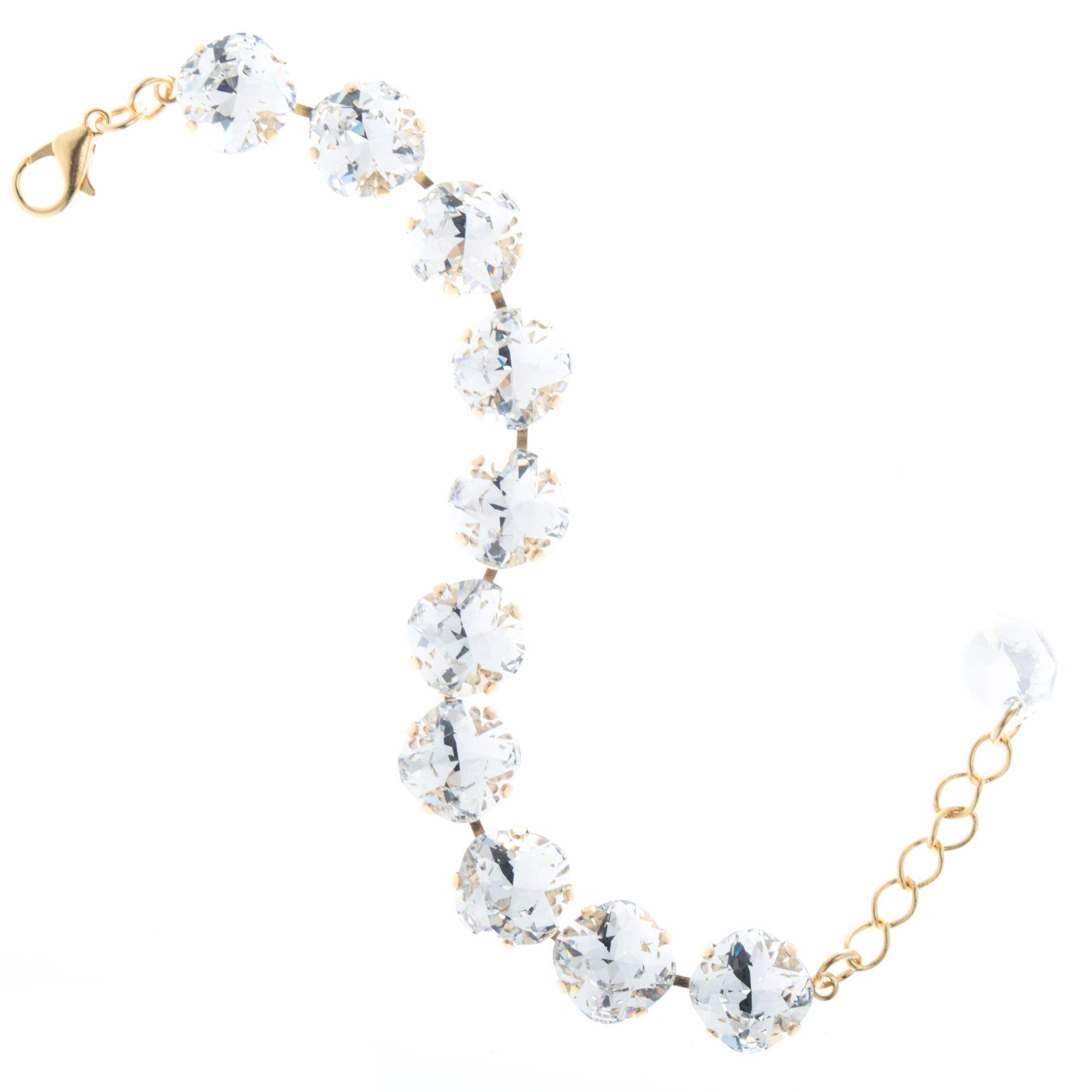 c91bf717fff025 Lisa Marie Jewelry 12mm Square Swarovski Crystal Bracelet - Clear