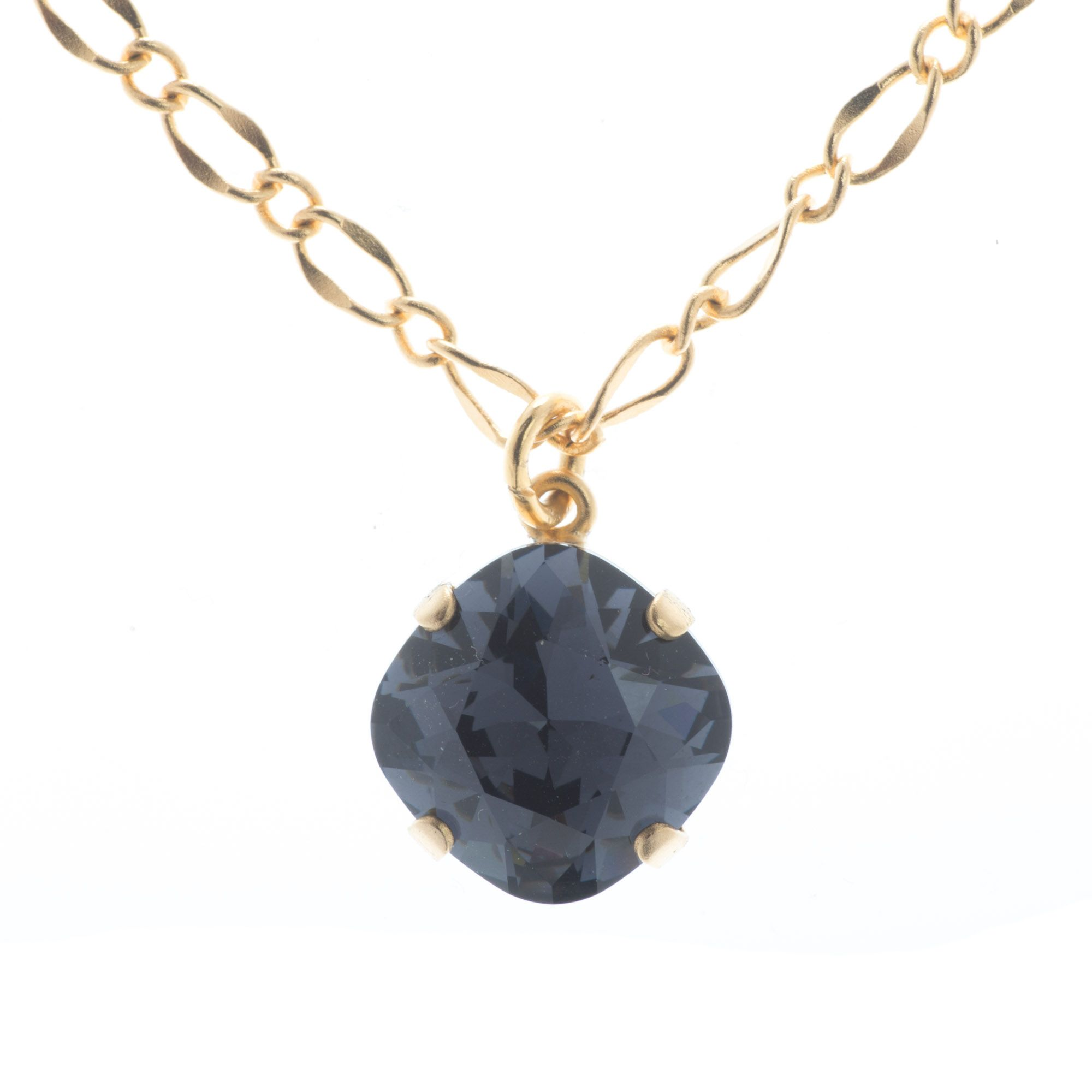 5cb6e69854256 Lisa Marie Jewelry 12mm Square Swarovski Crystal Pendant Necklace