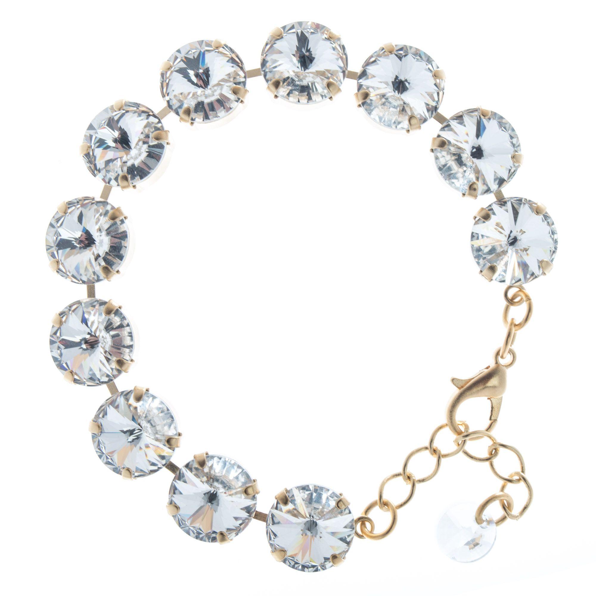 903ba966c4 Lisa Marie Jewelry 12mm Rivoli Swarovski Crystal Bracelet - Clear