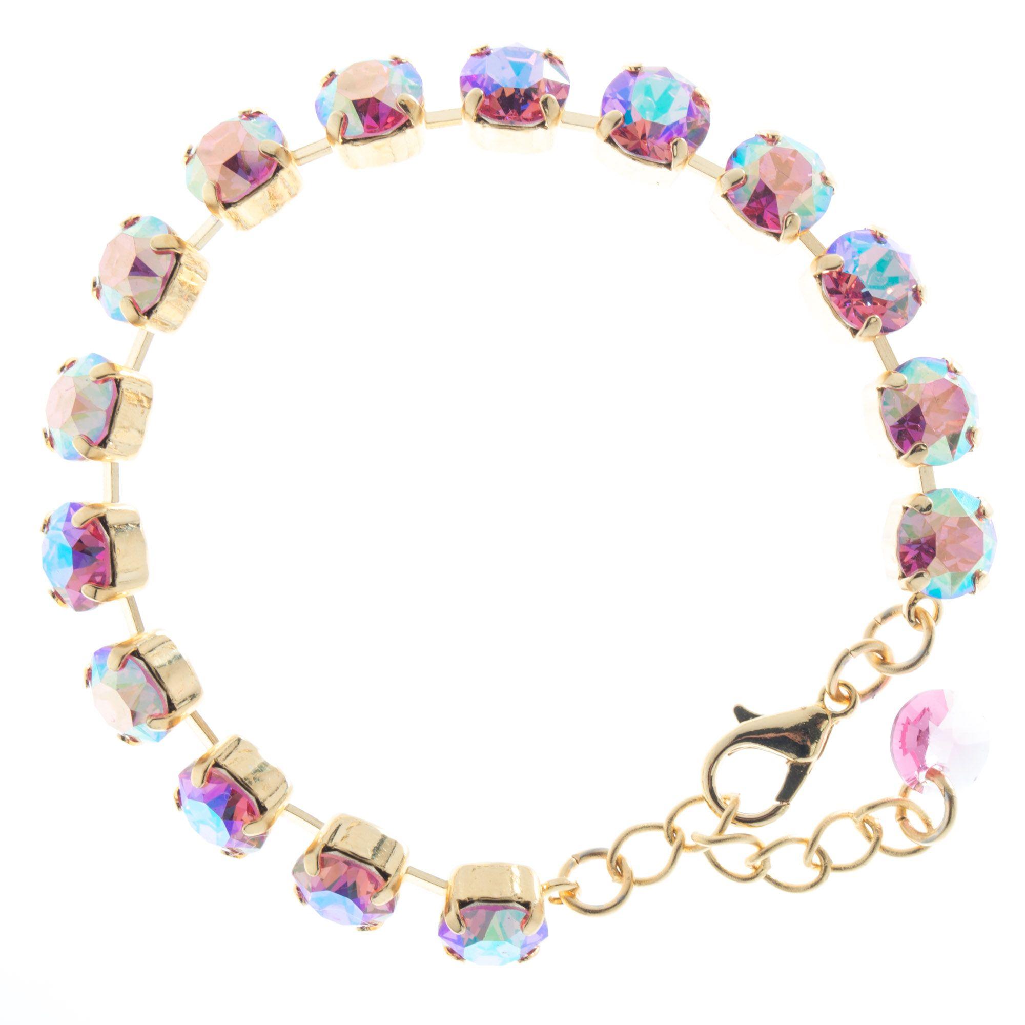 Lisa Marie Jewelry 8mm Swarovski Crystal Tennis Bracelet Rose Ab