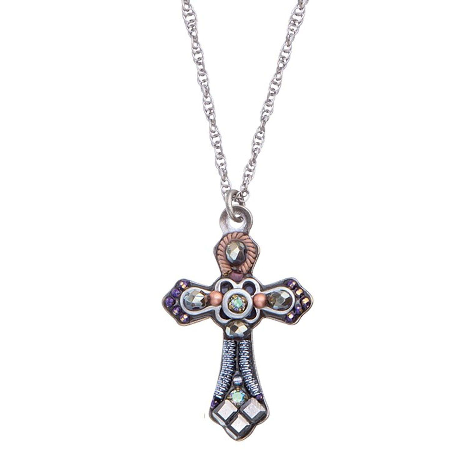 Ayala Bar Israeli Jewelry - Silver Cross Necklace - Fall/Winter 2018