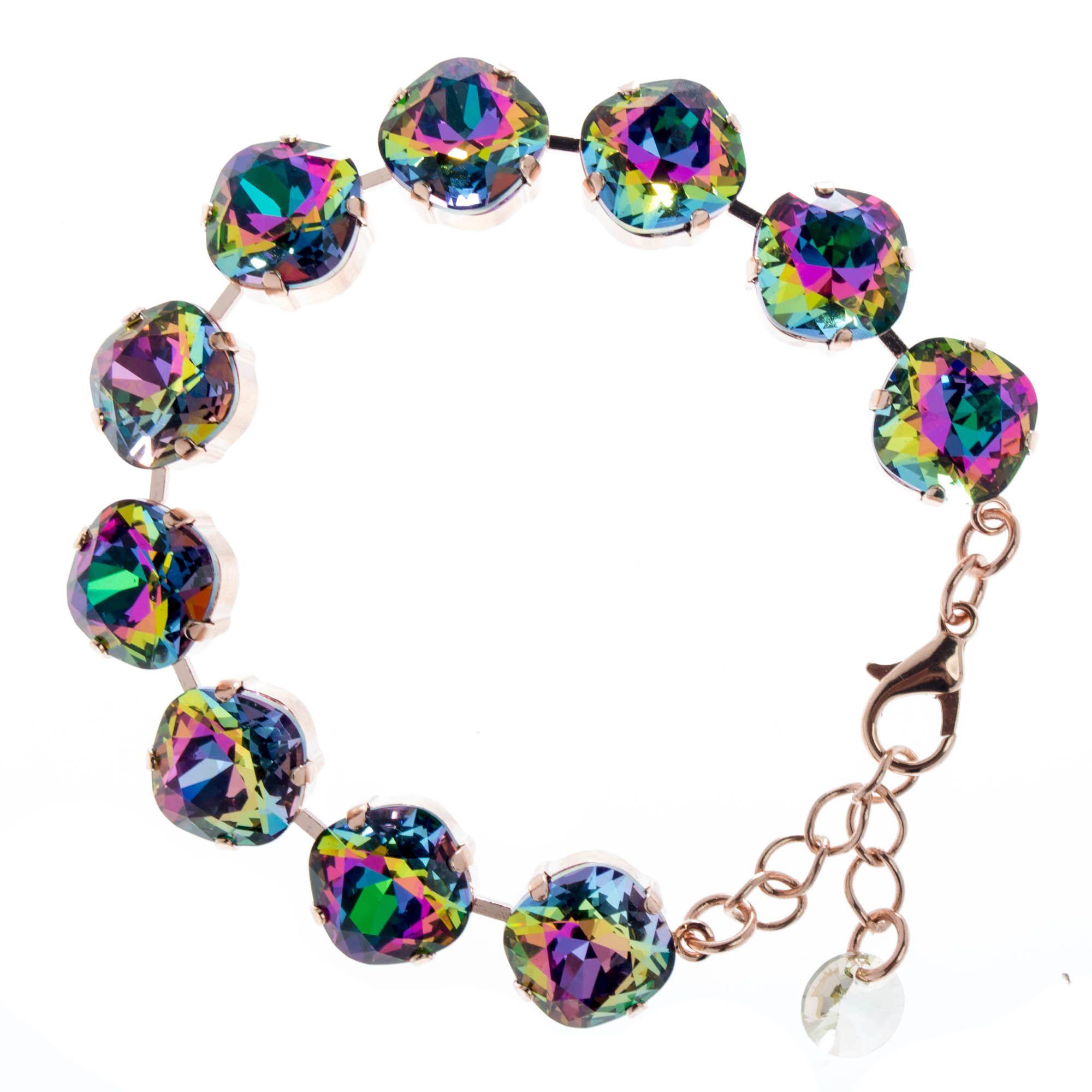 Lisa Marie Jewelry 12mm Square Swarovski Crystal Bracelet - Electra