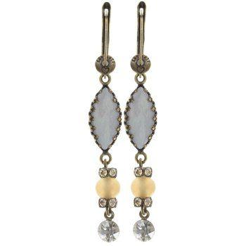 Konplott Jewelry - Earth, Wind & Glamour White Shell Dangle Earrings