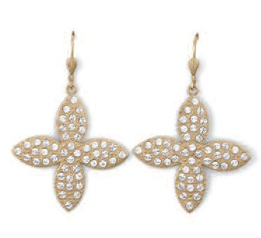 La Vie Clear Crystal and Gold Earrings