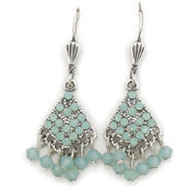 Catherine Popesco Pacific Opal and Silver Dangle Earrings