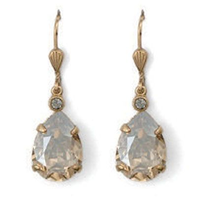 Catherine Popesco Teardrop Crystal Earrings - Assorted Colors in Gold or Silver