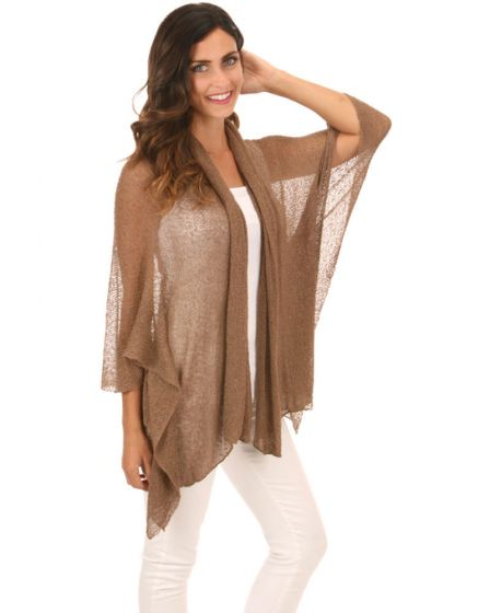 Lost River Knit Butterfly Kimono Jacket - Golden Bronze or Black