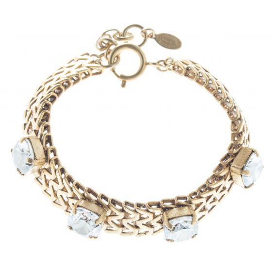 Catherine Popesco 10mm Stone Zigzag Crystal Bracelet - Assorted Colors
