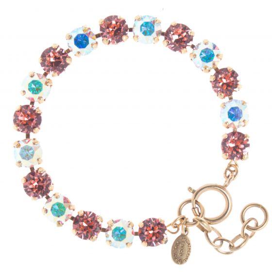 Catherine Popesco Crystal Tennis Bracelet - Pink & AB Combo
