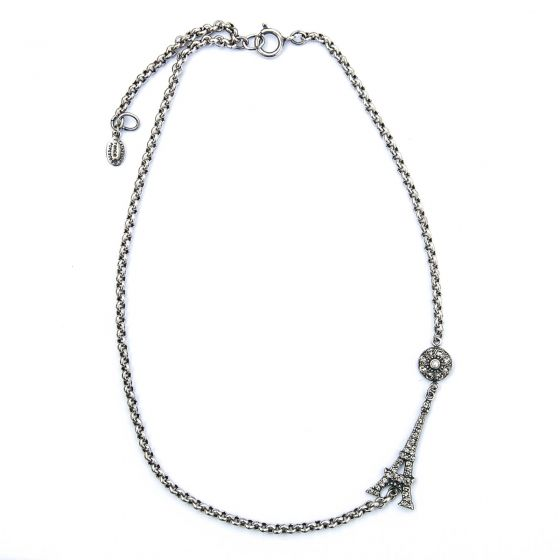 Catherine Popesco Eiffel Tower Choker Necklace in Silver or Gold