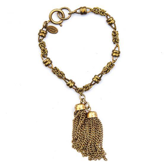 Catherine Popesco Gold or Silver Double Tassel Bracelet