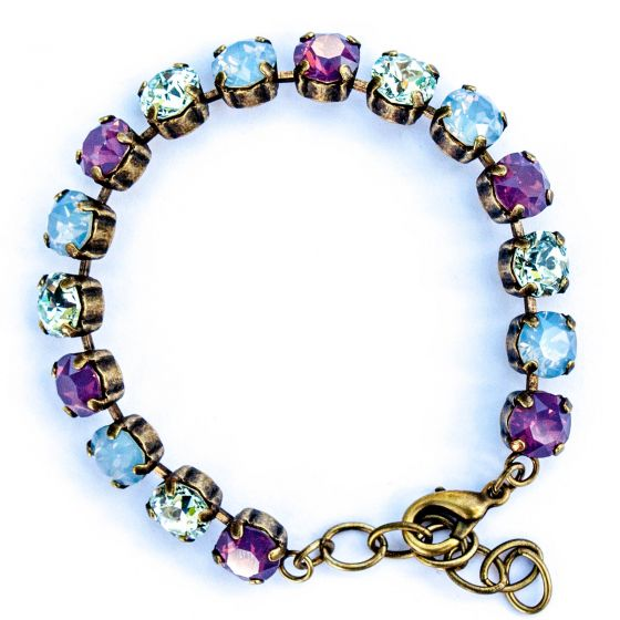 Catherine Popesco Multi Color Crystal Bracelet - Air Blue and Lavender