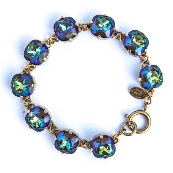 Large Stone Crystal Bracelet - Ultra Coco and Gold - Catherine Popesco