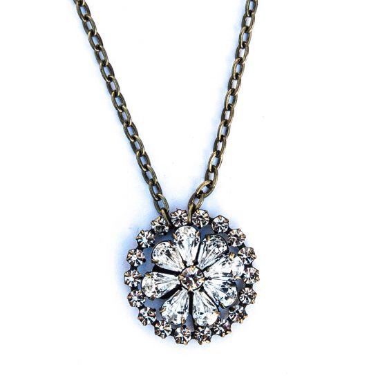 Saint Vintage Mindy Floral Bouquet Crystal Necklace
