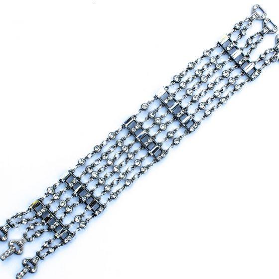 Glamorous Swarovski Crystal Bracelet - Anne Koplik