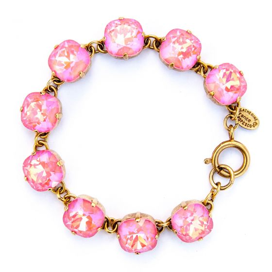 Large Stone Crystal Bracelet - Ultra Blush and Gold - Catherine Popesco