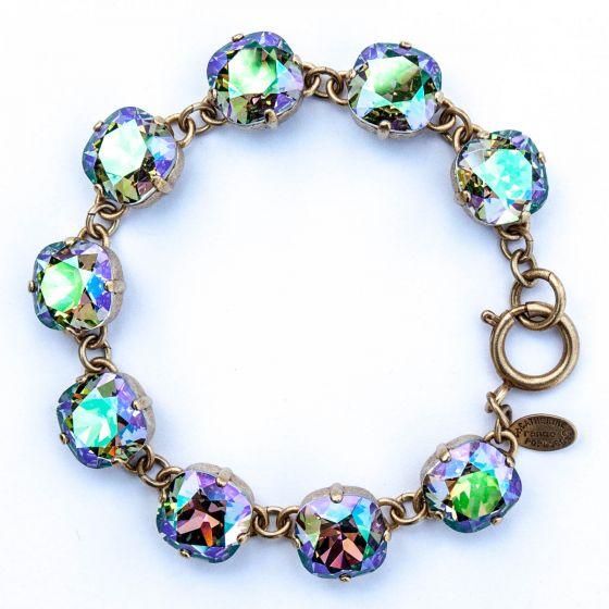 Large Stone Crystal Bracelet - Paradise Shine and Gold - Catherine Popesco