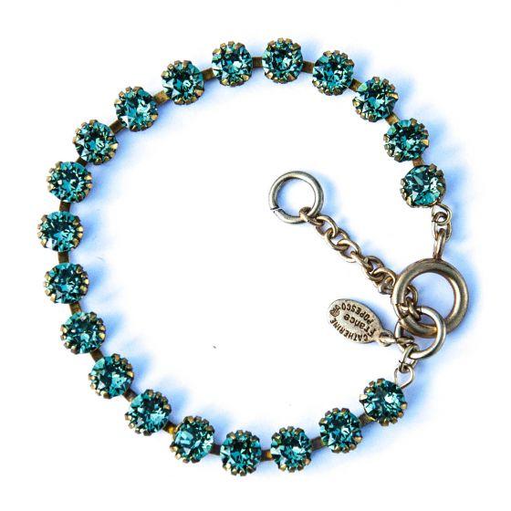 Catherine Popesco Small Stone Crystal Bracelet - Marine and Gold