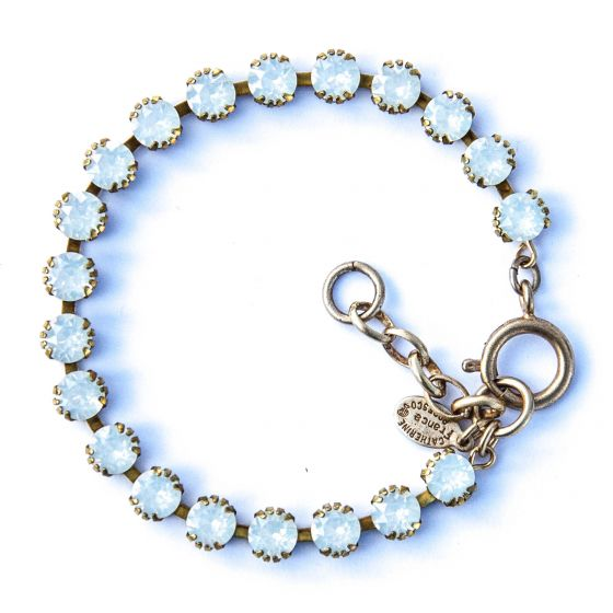 Catherine Popesco Small Stone Crystal Bracelet - White Opal and Gold