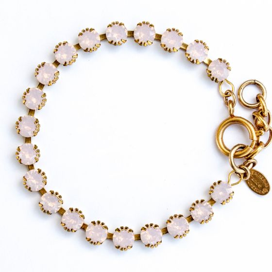 Catherine Popesco Small Stone Crystal Bracelet - Rosewater Pink and Gold