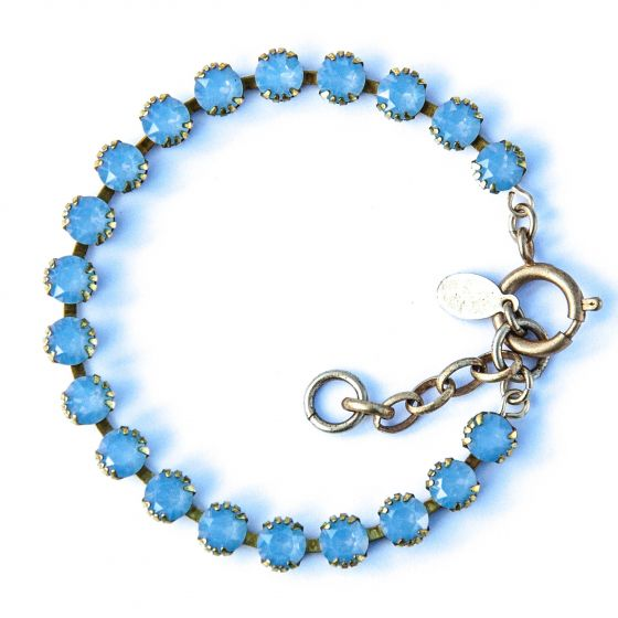 Catherine Popesco Small Stone Crystal Bracelet - Airblue and Gold